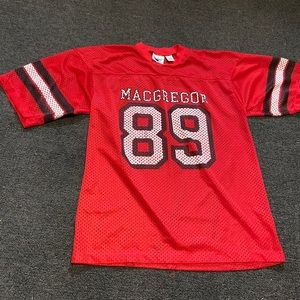 Vintage 80's MacGregor Red Mesh Football Jersey